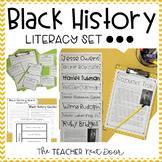 Black History Literacy Set | Black History Month Activities