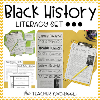 Black History Literacy Set | Black History Month Activities