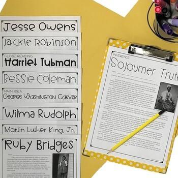 Black History Literacy Set   Black History Month Activities
