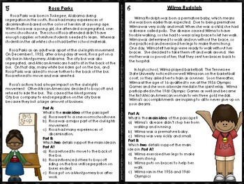 Black History Main Idea FSA/PARCC Style