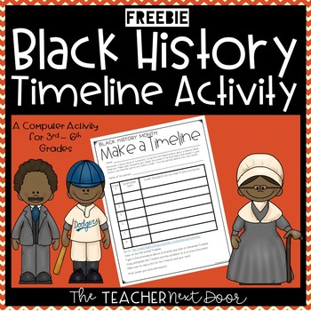 Black History Make a Timeline Computer Activity for 3rd - 6th Grade