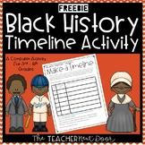 Black History Make a Timeline Computer Activity | Black History Activity
