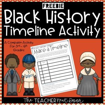 Black History Make a Timeline Computer Activity for 3rd -