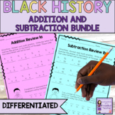 Black History Month Math   Addition and Subtraction