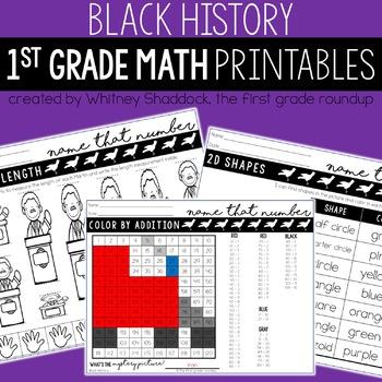 Black History Month Math and Literacy BUNDLE