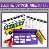 Black History Month Math and Literacy BUNDLE