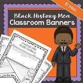 Black History Men Classroom Banners   Printable Worksheets   Black History Mont
