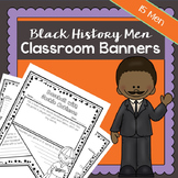 Black History Men Classroom Banners | Printable Worksheets