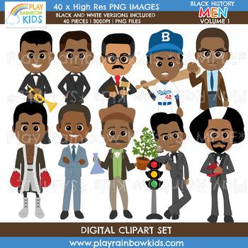 Black History Men Clipart Volume 1