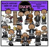Black History ~ Men Of Jazz Clip Art Bundle {Educlips Clipart}