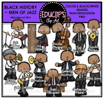 Black History ~ Men Of Jazz Clip Art Set {Educlips Clipart}