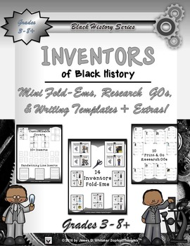 Black History Mini Fold-Ems Collection II Research and Activities