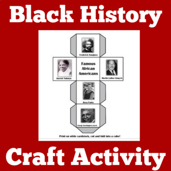 Black History Month Activity | Black History Month Craft