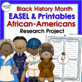 Famous African Americans   Black History Month   Research Project Templates