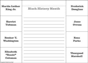 Black History Month Activity/ African American History Interactive Notebook