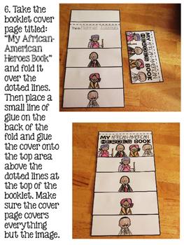 Black History Month flip book