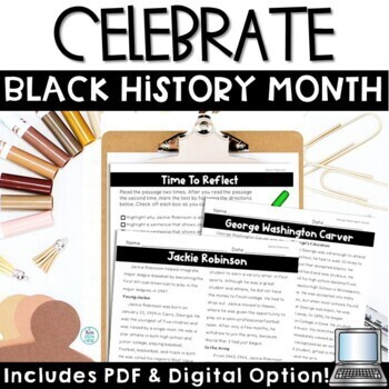 Black History Month Biographies and Activities
