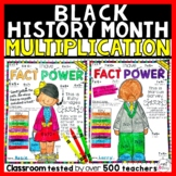 Black History Month Multiplication Color by Number