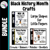 Black History Month Craft Bundle * Banner, Crowns and Mobile