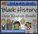 Black History Month 3rd Grade & 4th Grade Bundle of Six Cl