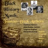 Black History Month:  Black Authors