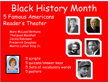 Black History Month:  5 Famous Americans Reader's Theater Scripts
