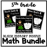 Black History Month Math 5th Grade Worksheets Bundle