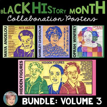 Black History Month Activities: Collaboration Poster BUNDLE Volume 3