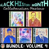Black History Month Activities: Collaboration Poster BUNDLE Volume 4