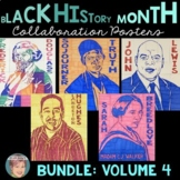 Black History Month Activities: Collaboration Poster BUNDLE Set 4