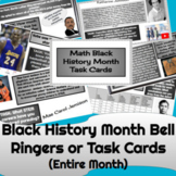 Black History Month Activities Digital Warm Ups  (for the