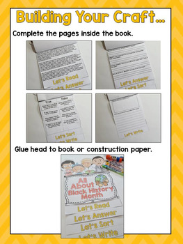 Black History Month Activities- Flip Book