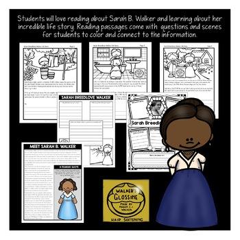 Black History Month Activities: Sarah B. Walker Unit
