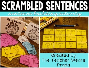Black History Month Activities BUNDLE | Building Sentences | Scrambled Sentences