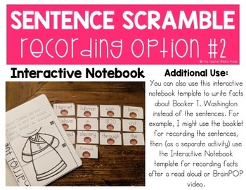 Black History Month Activities BUNDLE   Building Sentences   Scrambled Sentences