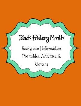 Black History Month Activities and Information
