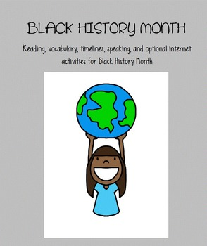 Black History Month Activities: for Reading, Speaking, Wri