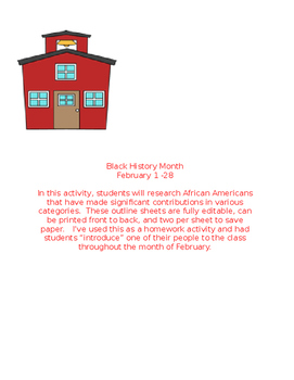 Black History Month Activity
