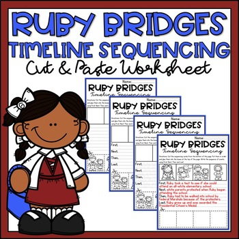 Black History Month Activity Ruby Bridges Sequencing Timeline Differentiated