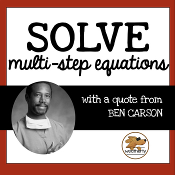 Black History Month Activity - Solving Multi-Step Equations