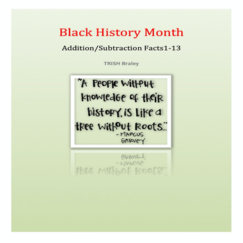 Black History Month Addition Facts