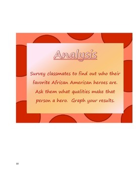 """African American Heroes""  Bloom's Taxonomy Activites"