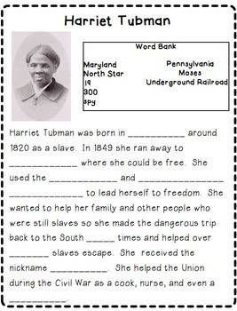 Black History Month:  Historical Figures Close Reading Passages Activity Pack