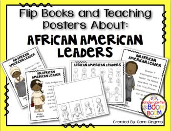 Black History Month - African American Leaders Posters/Flip books K/1