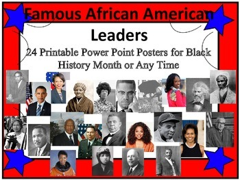 Black History Month African American Leadership Quote Posters