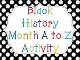 Black History Month: An A-Z Book Activity