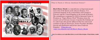 Black History Month Argumentation Project
