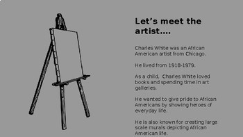Black History Month, Art History, Charles White, Critical Thinking, Project