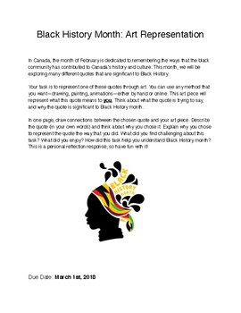 Black History Month Art Representation