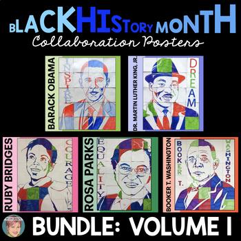 Black History Month Activities: Collaboration Poster BUNDLE Vol. 1 (incl. MLK)